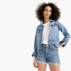 J.CREW | High-rise Eco Denim Shorts/indigo/25